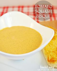 This tomato squash bisque looks so creamy and flavorful! I can't wait to try it! #lmldfood