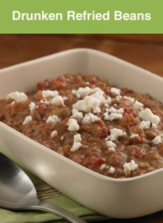 ... lime juice, cilantro and Mexican beer, these refried beans are a