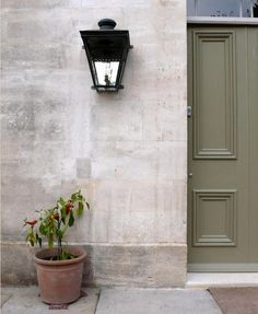 Lovey English entrance  (the color!) photographed by Kendra Wilson. via Garenista