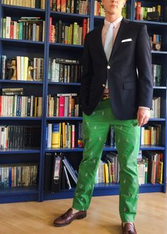 Happy Preppy (Prep 101: Green, pink, navy blazer and seersucker...)
