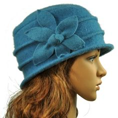 Daisy Flower Wool Cloche Bucket Hat - Various Color