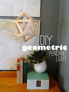 #DIY Chandelier | Geometric Pendant Light by @Megan Maxwell Padgett {revamp homegoods} | Supplies available at Joann.com #craftmonthlove