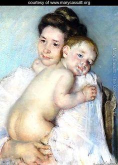 Mother Berthe Holding Her Baby - Mary Cassatt
