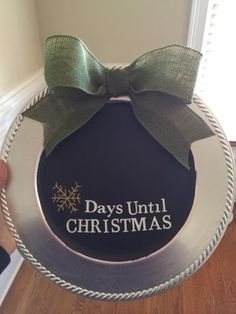My countdown to Christmas plate