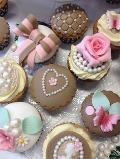 Pink and Coffee Cupcakes