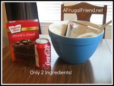 Easy Devil's Food Coca-Cola Cake Recipe (yes, only 2 ingredients) @Debra Eskinazi Stockdale @Debra @AFrugalFriend