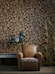 This is Andrew Martin wallpaper / love to do with real wood