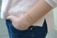 DIY Name bracelet. So cute! 25 DIY Summer Style Accessories
