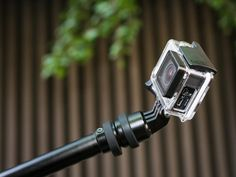 The Polar Pro PowerPole is a kill-two-birds mount for GoPro cameras. The Polar Pro allows you to continue one-handed recording with a rechargeable battery built into the pole.