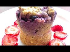 BERRYLICIOUS MICROWAVE MINUTE MUFFIN:  Take a little less than a quarter cup of quick oats, 1 egg, a small handful of blueberries, and some brown sugar or Stevia if you like thing...