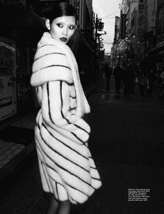 Mink coat by Fendi.