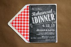 BBQ Invitation. I've been searching for ideas for so long! Finally!