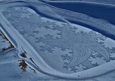 Snow quilts -- Snowshoe art by French artist, Simon Beck