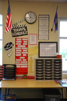 The homework/ mail center... includes homework trays, lunch count sticks, mailboxes, lunch menu, class rules, daily schedule, and much more.