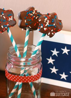 My Sister's Suitcase: Star-Spangled Marshmallow Pops