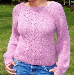 Free Knitting Pattern Raglan Sleeve Pullover : Knitting -- Sweaters on Pinterest Free Knitting ...