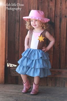 Sheriff Callie inspired ruffle dress Avail in custom sizes 4t-6