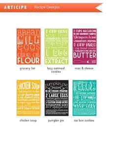 kitchen prints recipes