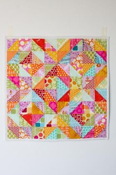 Warm Cool Quilt - Free Pattern - Half Square Triangles#Repin By:Pinterest++ for iPad#