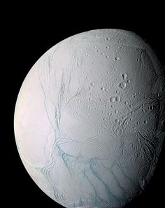 Icy. Saturn's moon - Enceladus