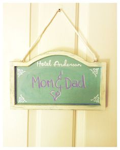 Shabby Chic Guest Room Sign,Chalkboard Sign, House Warming Gift, Unique Home Decor, Personalised sign, Vintage Sign, Hotel Sign on Etsy, $26.50