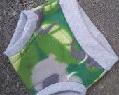 M Elephant Jungle Fleece Soaker in Grey with extra wet zone protection by Lagamorphlounge on Etsy. $8.00