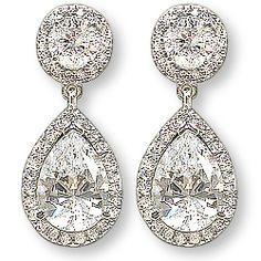 Skye Halo Pear Drop Earrings