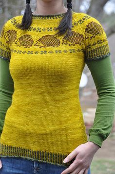 Hedgehog fair-isle sweater ...