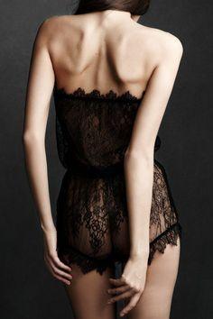 Beautiful Black Lace Lingerie