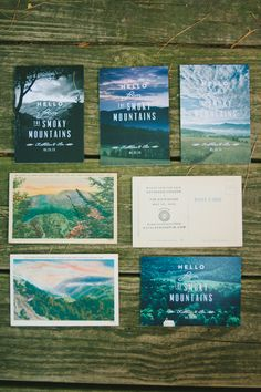 5 Tips on How to Cut Stationery & Printing Costs - Wedding Party postcard design, vintage postcards, postcard invit, mountain weddings, paper, wedding invitations, old cards, party invitation design, postcard save the date