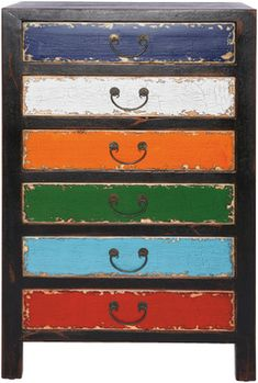 colorful idea for a chest or dresser