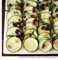 Zucchini and olive salad