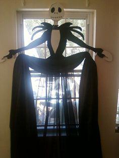 halloween window curtain