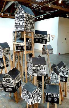 Marcus Oakley--need to find out more about this. - could be done with zentangles and as an installation project