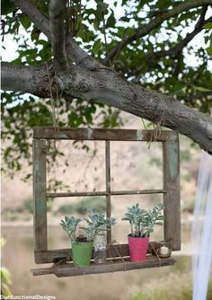 Love this idea of repurposing an old window frame!