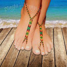 Rasta and Reggae Barefoot Sandal Jewelry at RastaEmpire.com