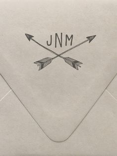 Arrows Monogram Custom Stamp  | www.sycamorestreetpress.com