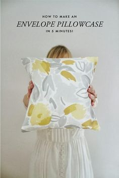 DIY Envelope Pillow Case