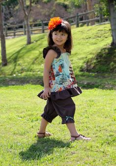 Ruffle Swing Top Sewing Pattern - Sizes 6m - 10, Girls and Dolls