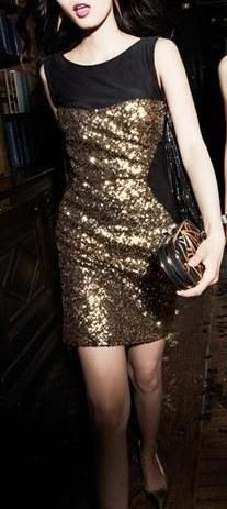 Sequin party dress.
