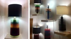Recycled Vinyl Records Become Bases for Beautiful Lamps - Brooklyn-based Orlando Dominguez of GIN Art & Design