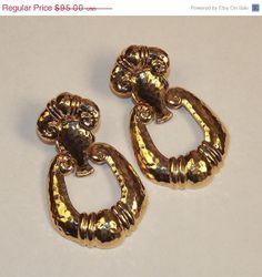 Vintage Chunky Earrings BARRERA for AVON by 4dollsintime on Etsy, $85.00