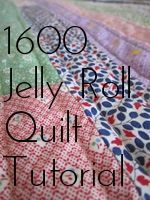 A quick and simple quilt made with one jelly roll! Choose from Fabric Shack's large selection of jelly rolls and batik strips at http://www.fabricshack.com/cgi-bin/Store/store.cgi Repinned: 1600 Quilt Tutorial by Happier Than A Bird Quilts.