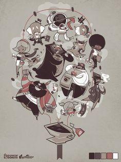 Everyone Loves Coffee by Tan Zhi Hui, via Behance