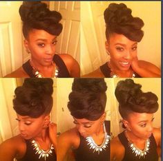 NATURAL HAIR UPDO natural hair styles, style idea, natur hair, protective styles, hair inspir, beauti, protect style, updo, elegant natural hairstyles