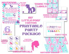 MLP Party Printables