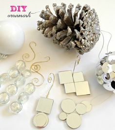 DIY Christmas Ornament Ideas! Easy ideas to create your own! Check this out!