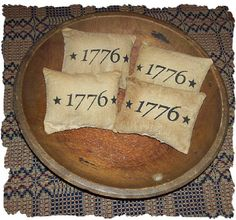 1776 Primitive Stars Americana Pillow Tuck Ornie Bowl Fillers Set of four Original Design. $5.95, via Etsy.