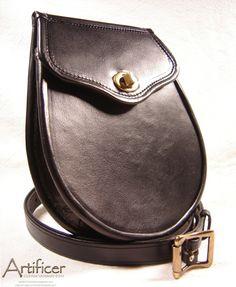 Custom buffalo kidskin #sporran with antique brass twist lock and matching sporran strap.