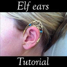 Elf ears tutorial  30 off by MaelleandFanny on Etsy, $7.00